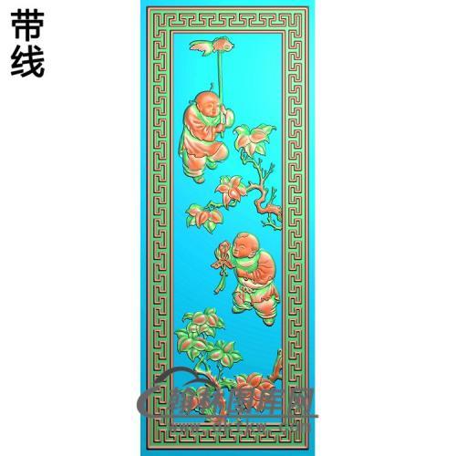 鱼童子精雕图(TZ-144)