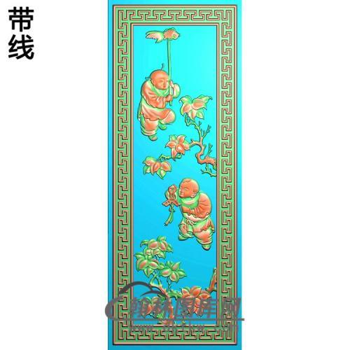 鱼童子 (2)精雕图(TZ-145)