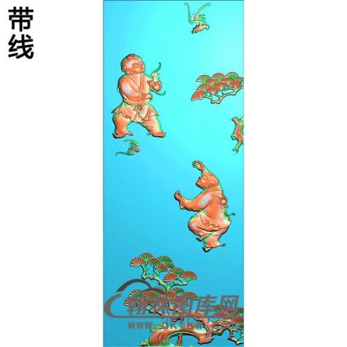 竹松牡精雕图(TZ-147)