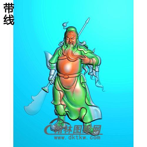 GG-8024-带刀战关公精雕图(GG-015)