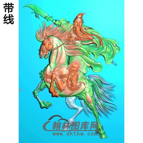 关公骑马精雕图(GG-033)