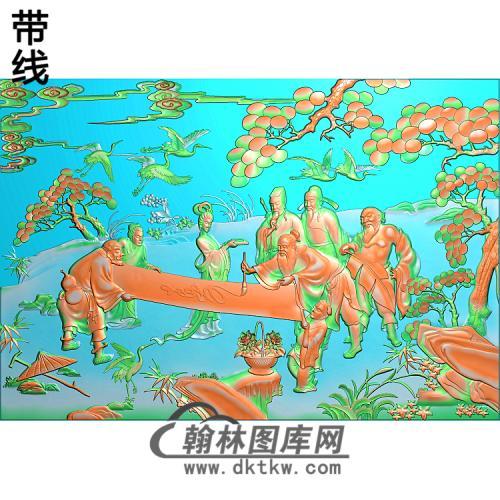 BX-004八仙床中精雕图(BX-012)