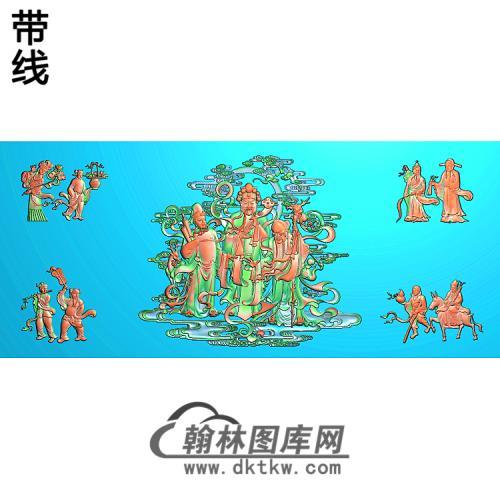 BX-7020精品八仙庆寿大图线精雕图(BX-075)
