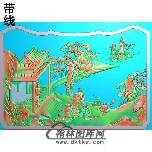 SSRW-0039-群仙之八仙罗汉床精雕图(BX-137)