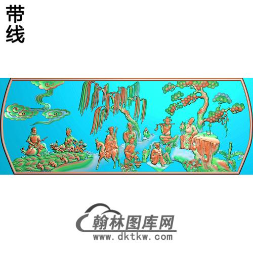 YN-724-精品八仙过海图QW精雕图(BX-143)