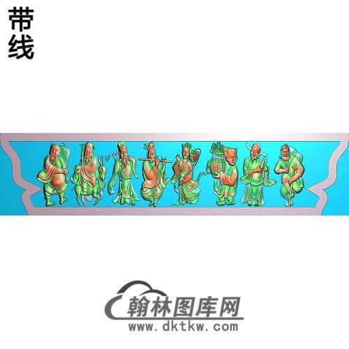 八仙碑头精雕图(BX-153)