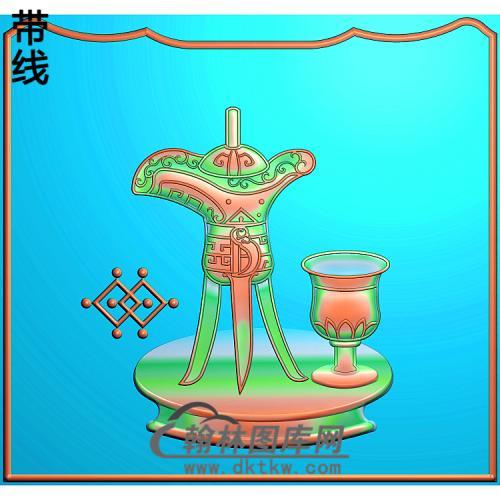 八仙大床酒杯2精雕图(BX-156)