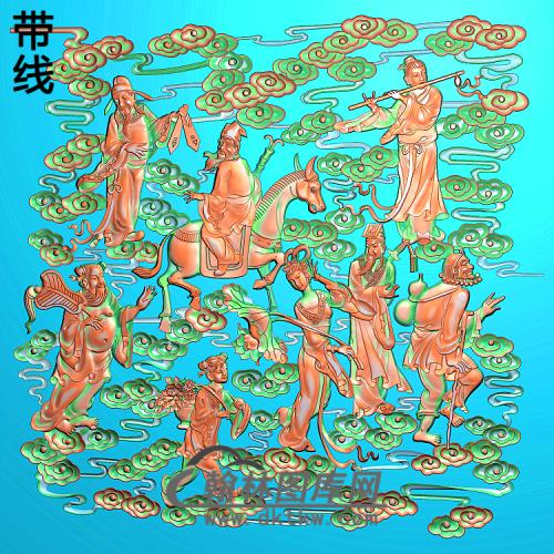 八仙过海A精雕图(BX-160)
