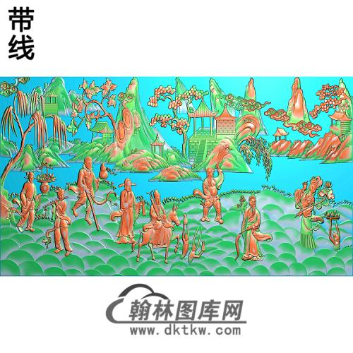 八仙过海C精雕图(BX-161)