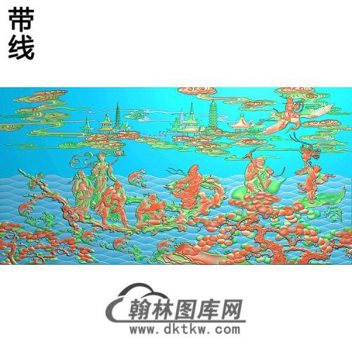 八仙过海精雕图(BX-163)