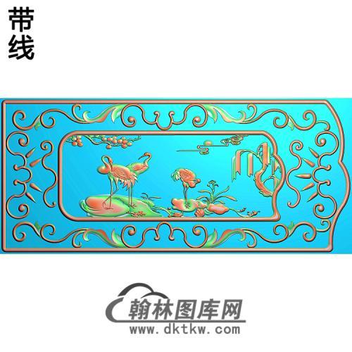 八仙罗汉床扶手精雕图(BX-169)