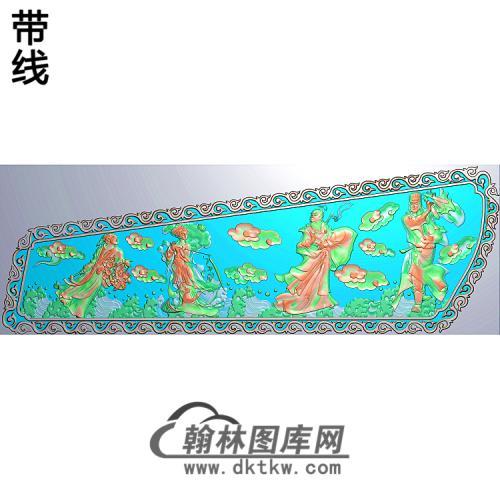 八仙左精雕图(BX-170)