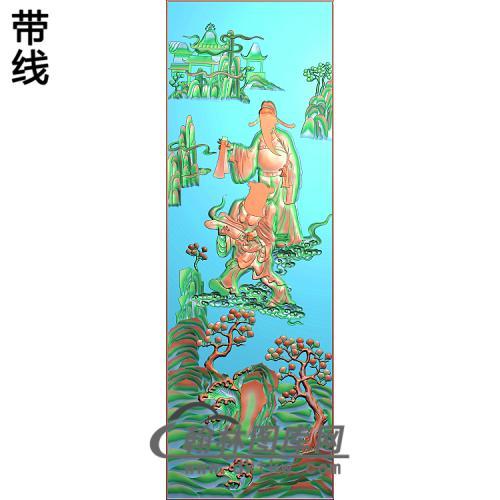 大门明八仙2精雕图(BX-172)