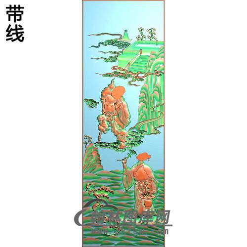 大门明八仙3精雕图(BX-173)