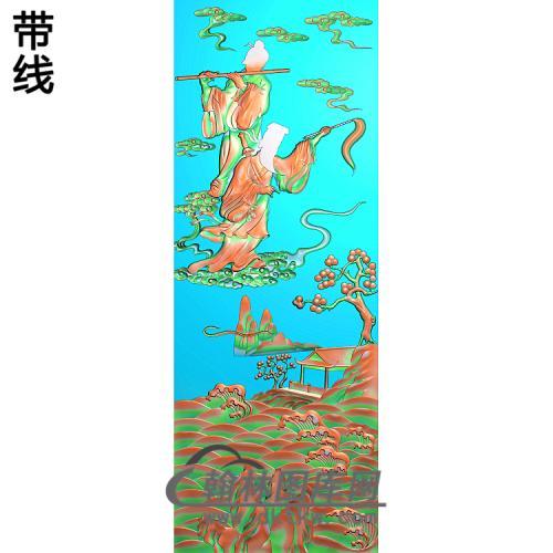 大门明八仙4精雕图(BX-174)