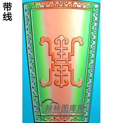 棺盖-八仙法器盖板改寿福精雕图(BX-177)