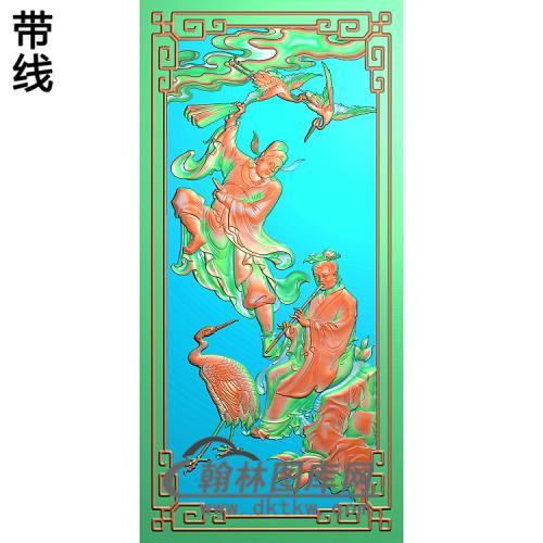 靠背八仙朝国舅,韩湘子 g精雕图(BX-179)