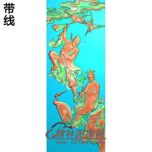 靠背八仙朝国舅,韩湘子精雕图(BX-178)