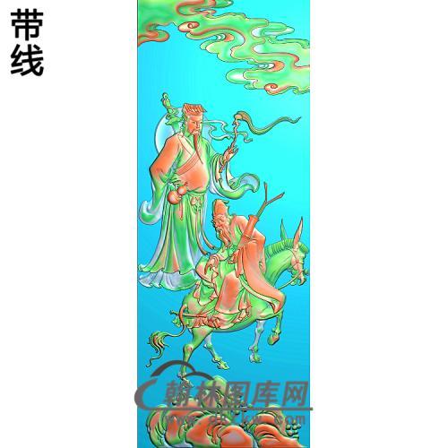 靠背八仙吕洞兵,张国老精雕图(BX-180)