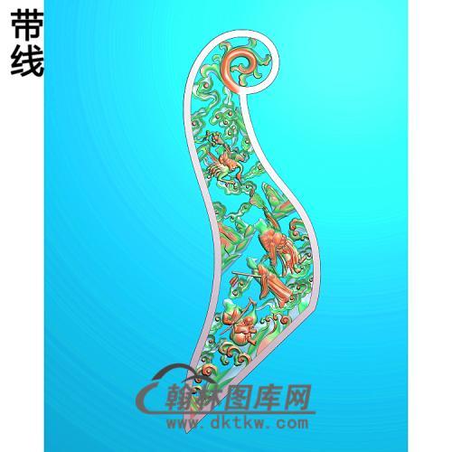 人物八仙1精雕图(BX-185)