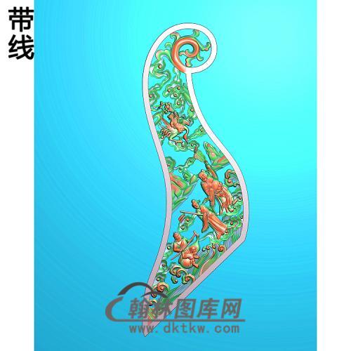 人物八仙2精雕图(BX-186)