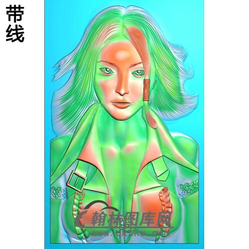 XDRW-454-美女精雕图(XD-013)