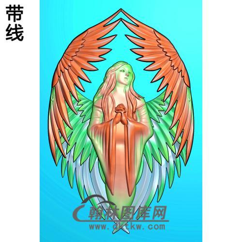 天使 人物精雕图(XF-071)