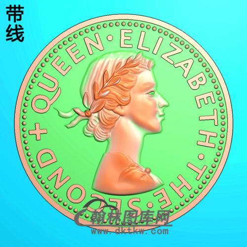 硬币 人物精雕图(XF-072)