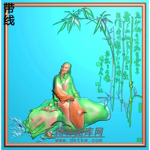 137郑板桥精雕图(GD-008)