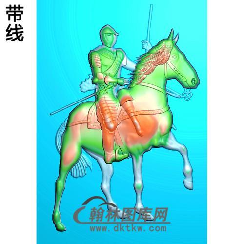 古代人物骑马精雕图(GD-106)