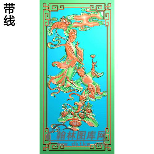 荷仙姑 g精雕图(GD-377)