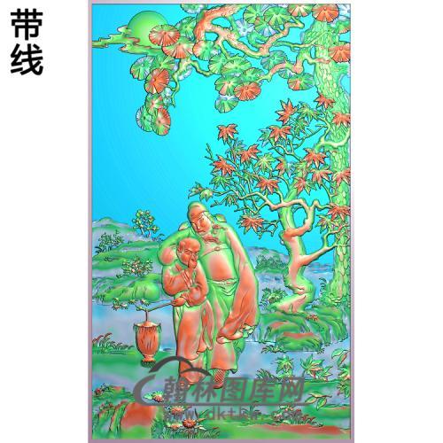 太白醉酒6精雕图(GD-416)