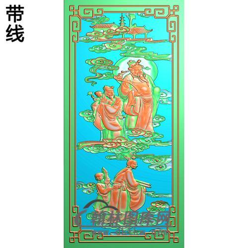 天官(顶箱柜)精雕图(GD-417)