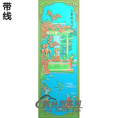 玉泉观鱼改精雕图(GD-427)