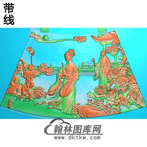 圆台面二精雕图(GD-430)