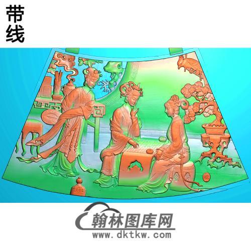 圆台面六精雕图(GD-431)