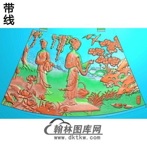 圆台面七精雕图(GD-432)