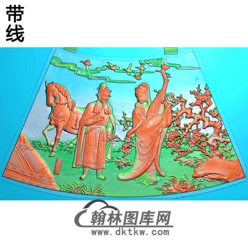 圆台面三精雕图(GD-433)