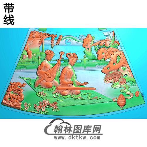 圆台面四精雕图(GD-434)