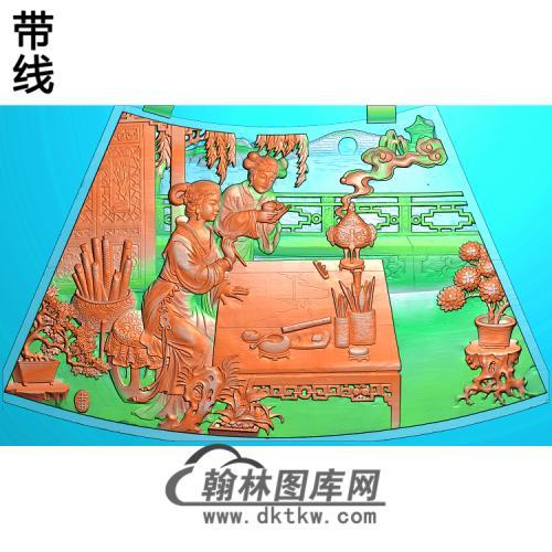 圆台面五精雕图(GD-435)