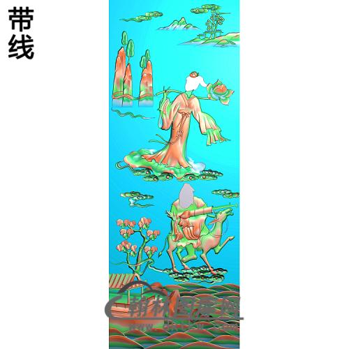 张国老何仙姑精雕图(GD-436)
