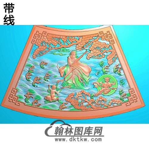 张果老-504精雕图(GD-437)