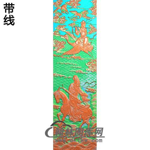 张果老韩湘子4精雕图(GD-438)