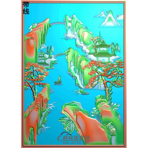 SSJZ-010-山水建筑精雕图(SSFJ-098)