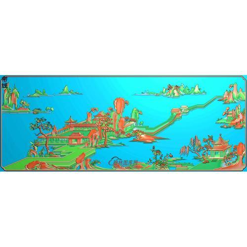 SSJZ-6259沙发山水图精雕图(SSJZ-155)