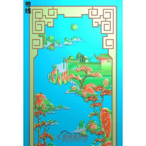 SSJZ-7082景韵山水1精雕图(SSJZ-157)