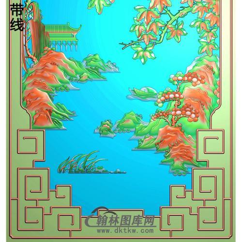 SSJZ-7083景韵山水2精雕图(SSJZ-158)