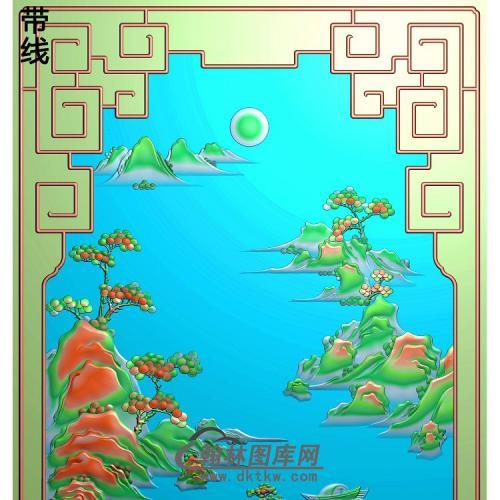 SSJZ-7085景韵山水4精雕图(SSJZ-160)
