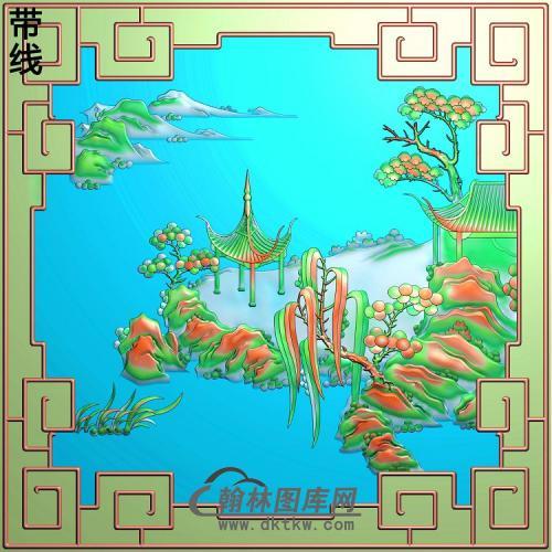 SSJZ-7086景韵山水上门右精雕图(SSJZ-161)
