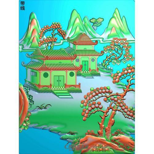 山水051_AUTOSAVE精雕图(SSJZ-208)